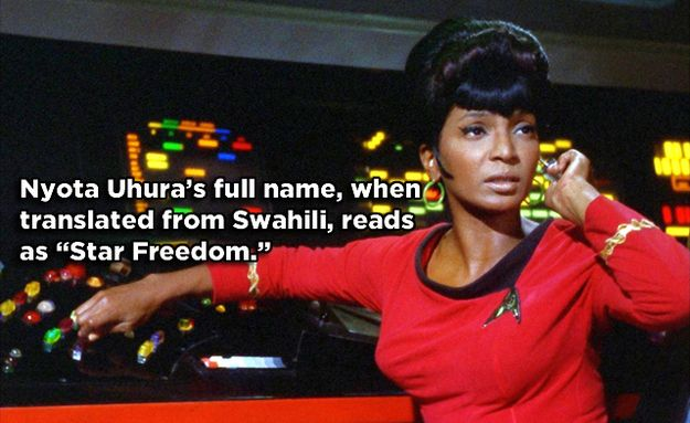 Uhura - Star Trek: The Original Series | 17 Famous Characters With Hidden Meanings In Their Names
