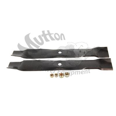 "John Deere AM141033 OEM Lawn Mower Blades for 42"" Mower Decks  Fits the following John Deere Equipment:  Z225 D100 D110 D120 D130 LA100 LA105 LA110 LA115 LA120 LA125 LA135 LT150 LT160 LT170 LT180 SST15 SST16 X110 X120 X125 X145 X300 X300R X304 X320 X340 X360 102 115 125 135"
