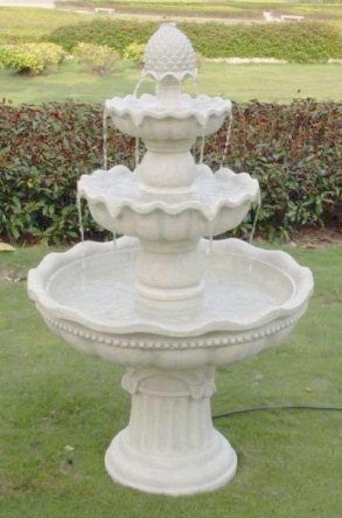 3 Tier Electric Fountain Outdoor Garden Water Feature Patio Yard Decor  Fountain