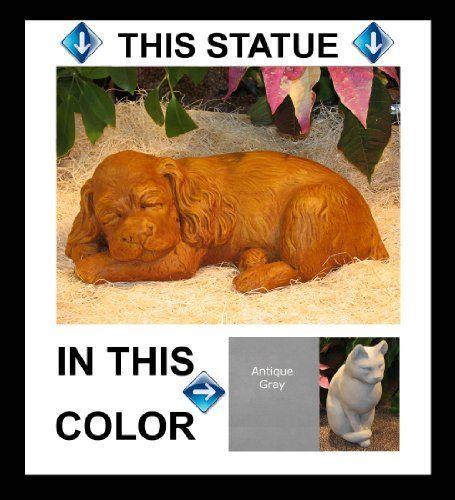 """DOG Cocker SPANIEL 14"""" GRAY CONCRETE Cast Cement Statue PUPPY Outdoor GARDEN by eEarthExchange. $72.95. MADE in the USA!!!   Ships Ground with insurance. 14 x 7.5 x 4.5. POURED CONCRETE - Cast Stone - NO RESIN. Picture shows Terra Cotta---This listing is for GRAY CONCRETE ONLY---Other colors available in separate listing. This garden statue is made in the USA of a copyrighted poured concrete mixture - meaning NO Resin. Each casting is hand finished at time of ord..."""