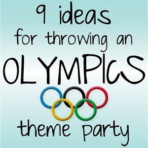 Kristina does the Internets: 9 Olympics Theme Party Ideas