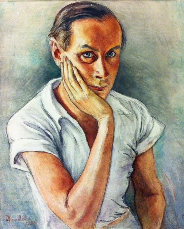 Självporträtt 1935 by Nils Dardel (Swedish 1888-1943)