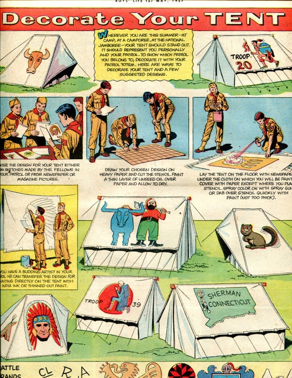 1950u0027s Vintage Boy Scouts Decorate Your Tent by PearlShoreCat $4.95  sc 1 st  Pinterest & 81 best scouts images on Pinterest | Scouts Boy scouting and Boy ...