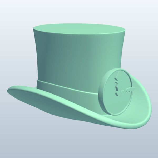 Steampunk Top Hat and Flair - Clock Face 3D Model Made with 123D MeshMixer