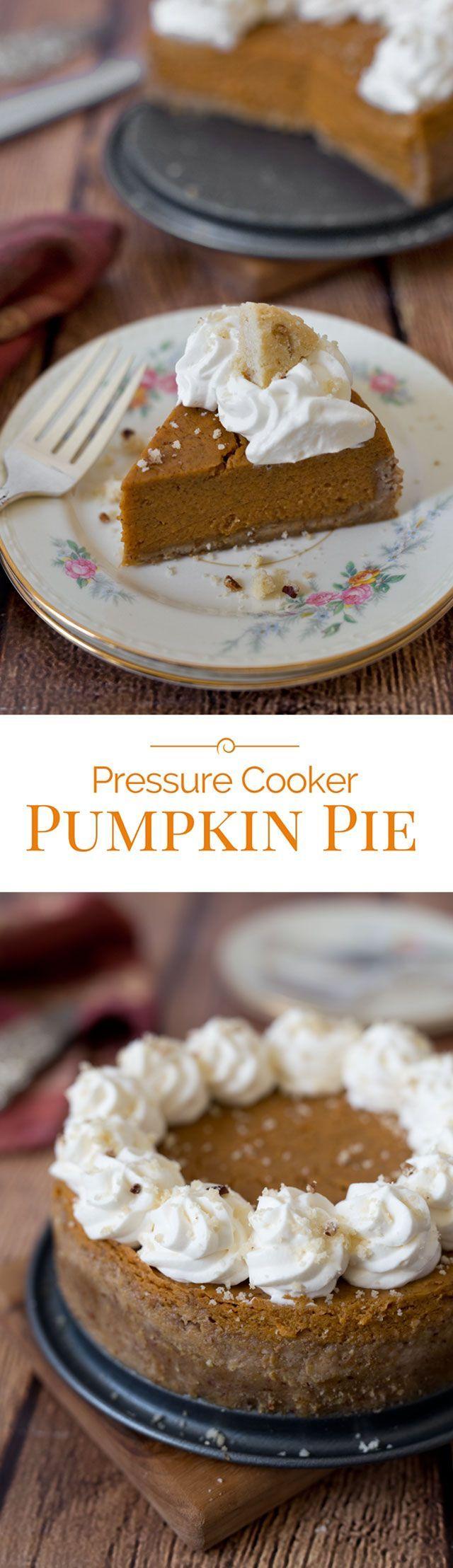 Pumpkin Pie has a classic pumpkin pie filling but in a crumbly Pecan ...