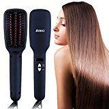 Review for ARINO 2 IN 1 Hair Straightening Brush Ceramic and Ionic Hair Straightener Brush... - Lisa Riemersma - Blog Booster