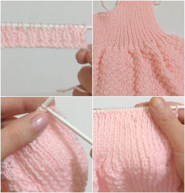 Örgü Kız Bebek Elbisesi Yapım Aşamaları