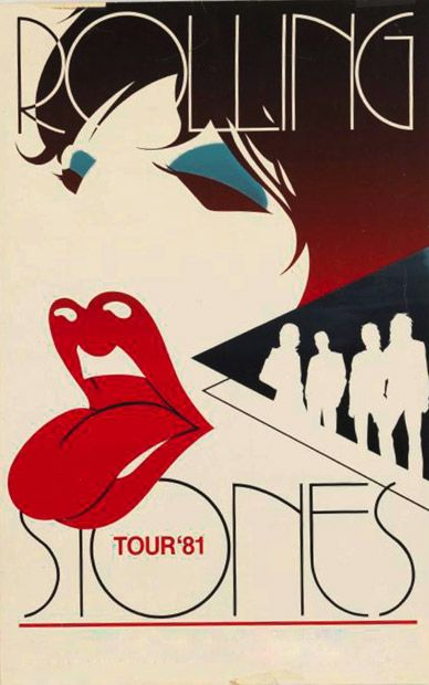 Rolling Stones 1981 Tour Poster