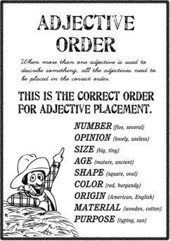 Ordre des adjectifs en anglais
