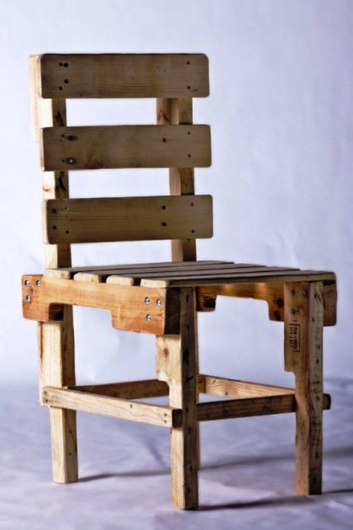 Silla, muebles con pallets de Probosc