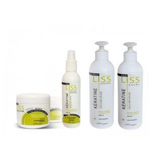 HAIRLISS 100% KERATINE 4 PIECES - Sett med Keratin som hjelper deg å holde ditt hår rett, skinnende og friskt!