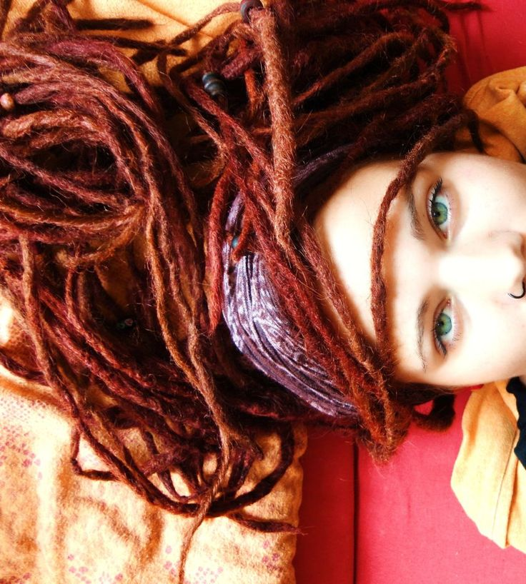 Nice color on her dreadlocks
