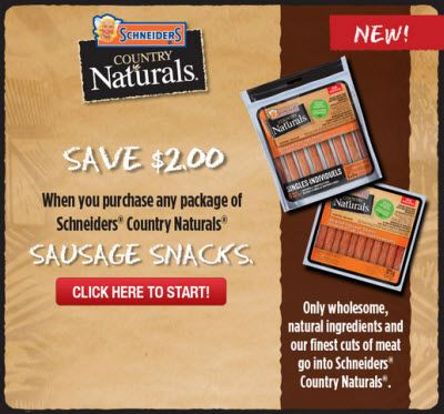 Websaver Coupon: Get $2 Off Schneiders Country Naturals!