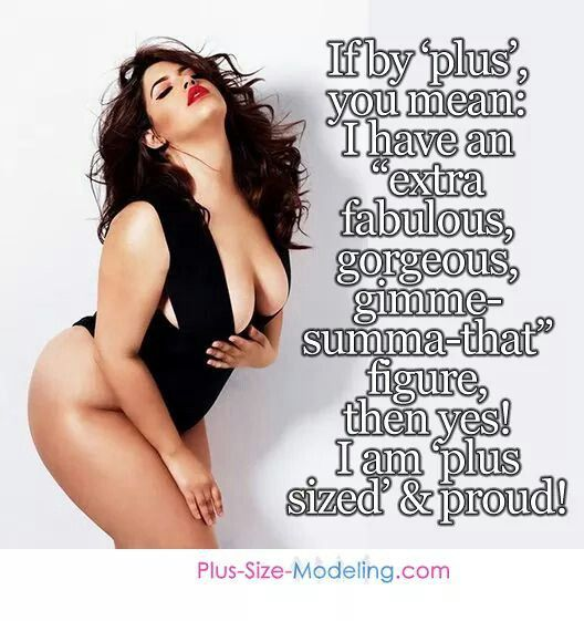"""Skinny gurls always talking down on """"plus size"""" women, but I have yet to see anything or anyone say skinny is better. Just saying."""