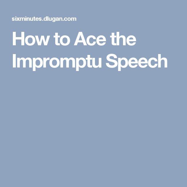 54 best Speech Ideas Speeches images on Pinterest Gym, Public - impromptu speech template
