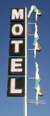 Old motel sign in Vintage signs