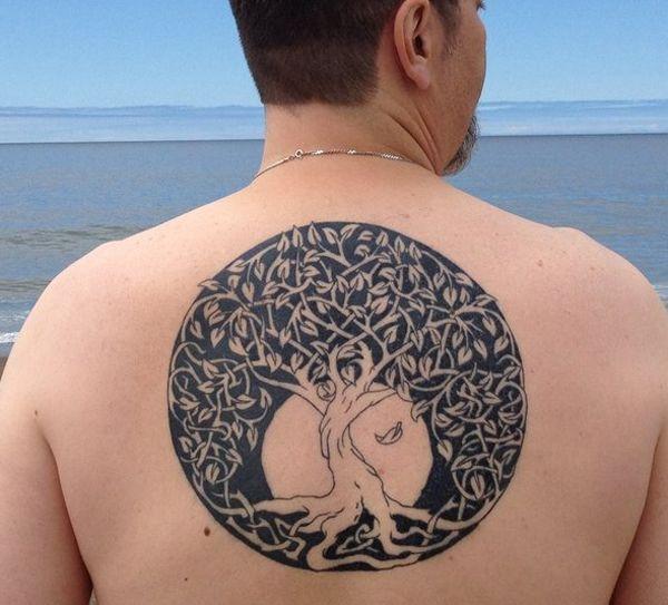 Celtic Rowan Tree | Incríveis Imagens de tatuagem de Árvore -2