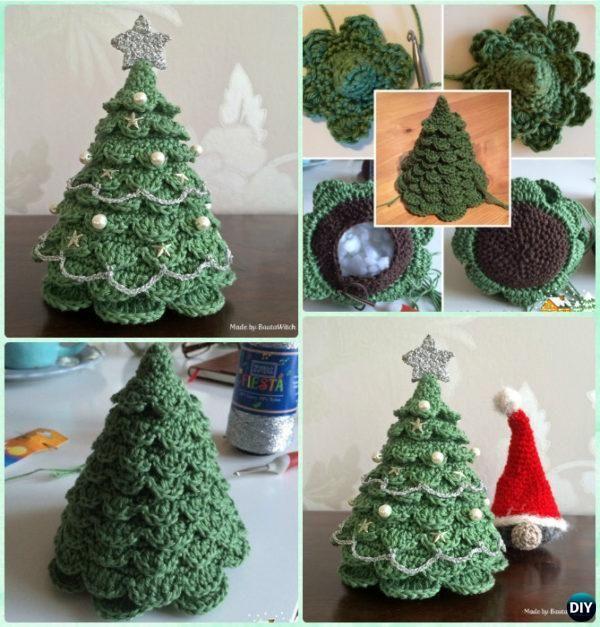 3D Crochet Christmas Tree Free Pattern  #Crochet Christmas Tree Free Patterns