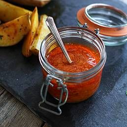 Piri Piri Sauce - Hot Pepper Sauce - I Made this hot sauce with red jalapeños. Very tasty sauce!!