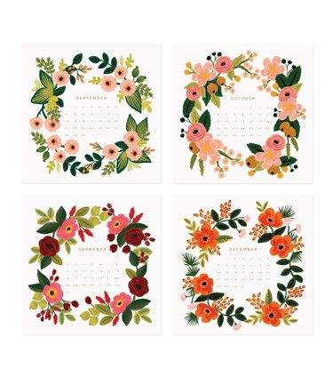 Rifle Paper Co. - 2014 Botanical Desk Calendar
