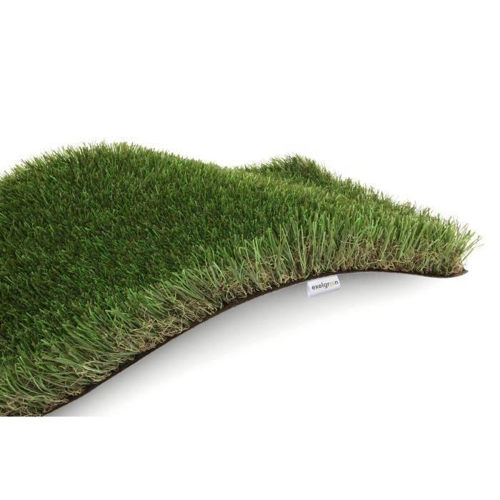 Tapis Gazon Artificiel GREEN avec Picots de Drainage Jardin etc Beige 2,00m x 10,50m Tapis Type Gazon Synth/étique au m/ètre Moquette dext/érieur Terrasse Balcon