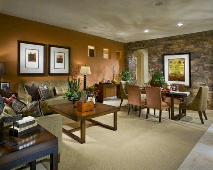 Rust Accent Wall Home Decor Pinterest Living Room Walls In And