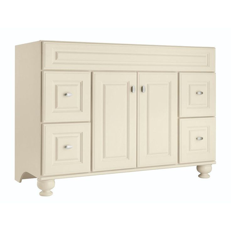 Shop Diamond Britwell Cream Traditional Birch Bathroom Vanity (Common: 48-in x 21-in; Actual: 48-in x 21-in) at Lowes.com