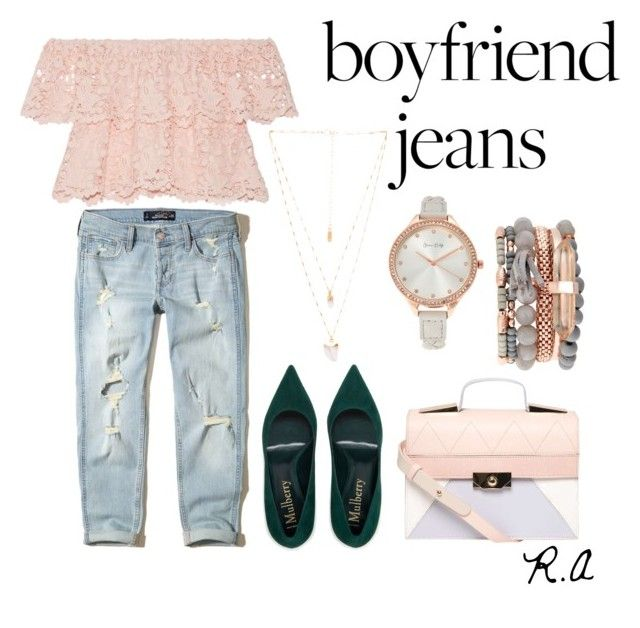 Boyfriend Jeans by ratihasmarani on Polyvore featuring Miguelina, Hollister Co., Dorothy Perkins, Jessica Carlyle and Natalie B