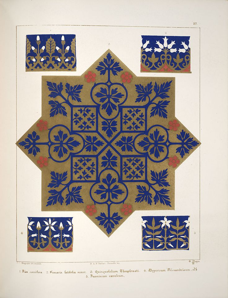 All sizes | Floriated ornament, a series of thirty-one designs, 1849 - Augustus Welby Northmore Pugin j | Flickr - Photo Sharing!