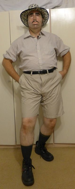MENS EXPLORER, RANGER, SAFARI, SCOUT, ZOOKEEPER OUTFIT OR FANCY DRESS COSTUME XL