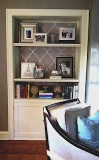 "Living room bookshelf inspiration from Jen's ""Cooper and Madison"" blog -- love this look!"