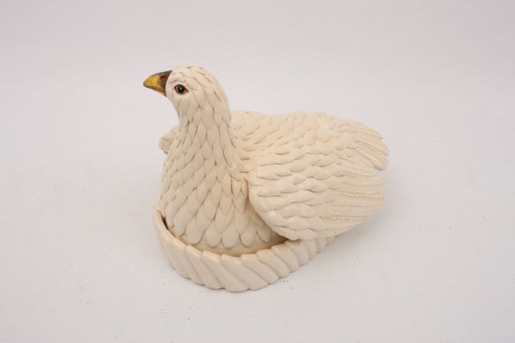 African Grouse Butter Dish