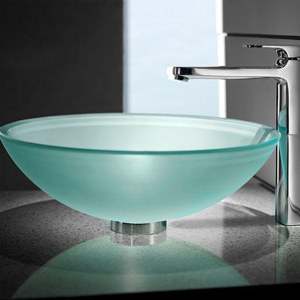 25 best ideas about glass vessel sinks on pinterest - Green glass vessel bathroom sinks ...