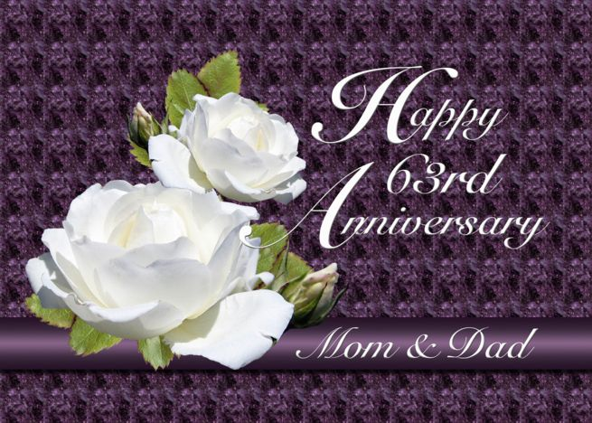 63rd Anniversary For Parents White Roses Card Ad Ad Parents Anniversary Card Roses Wedding Anniversary Cards 63rd Anniversary Parents Anniversary