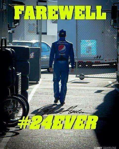 Farewell to Jeff Gordon......thanks for the ride.