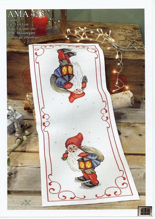 Gallery.ru / Фото #1 - 27 - IannaD  Olde World Christmas Elf table runner