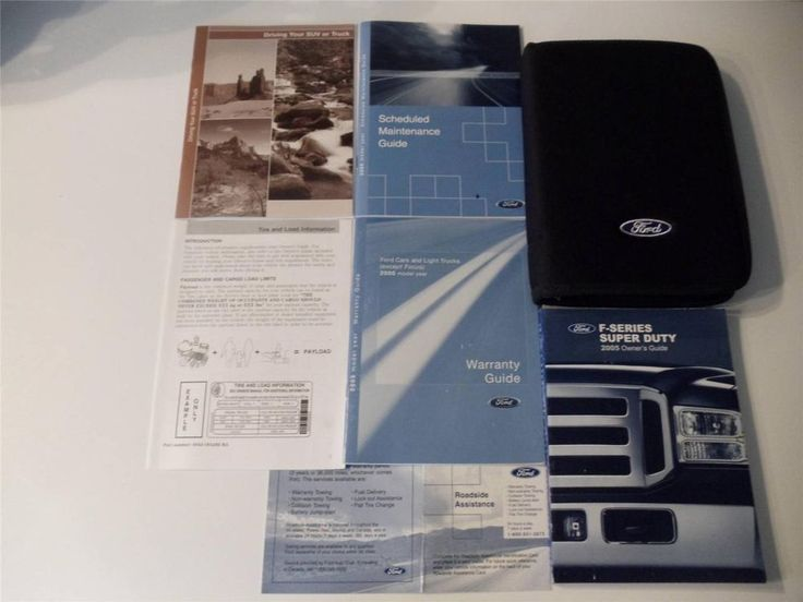 The 25 best ford owners manual ideas on pinterest 2005 ford f series super duty owners manual book set fandeluxe Image collections