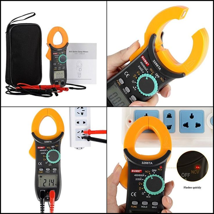 Electrical Tester Digital Clamp On Meter Multimeter Auto Range AC DC Voltmeter #Doesnotapply