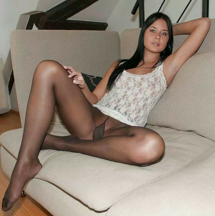 Nude hot girls in black pantyhose — 3