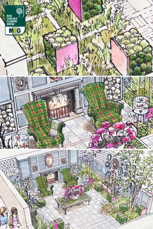 RHS Chelsea Flower Show - Fresh Garden - Fabric Sponsored by House of Fraser. Designed by Chris Deakin and Jason Lock. Built by Landform Consultants.