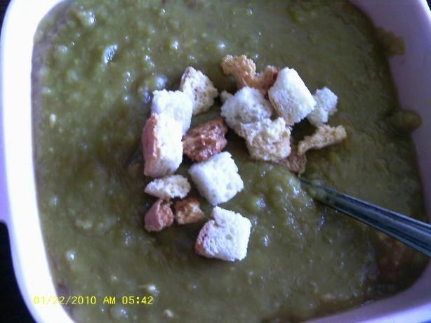 Czech Pea Soup Hrachova Polevka