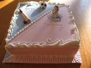 Twins birthday or baby shower cake