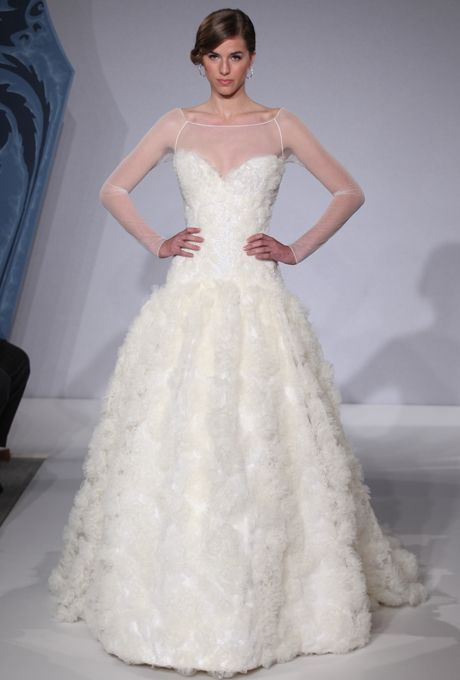 17 best images about bridal mark zunino on pinterest for Kleinfeld wedding dresses with sleeves