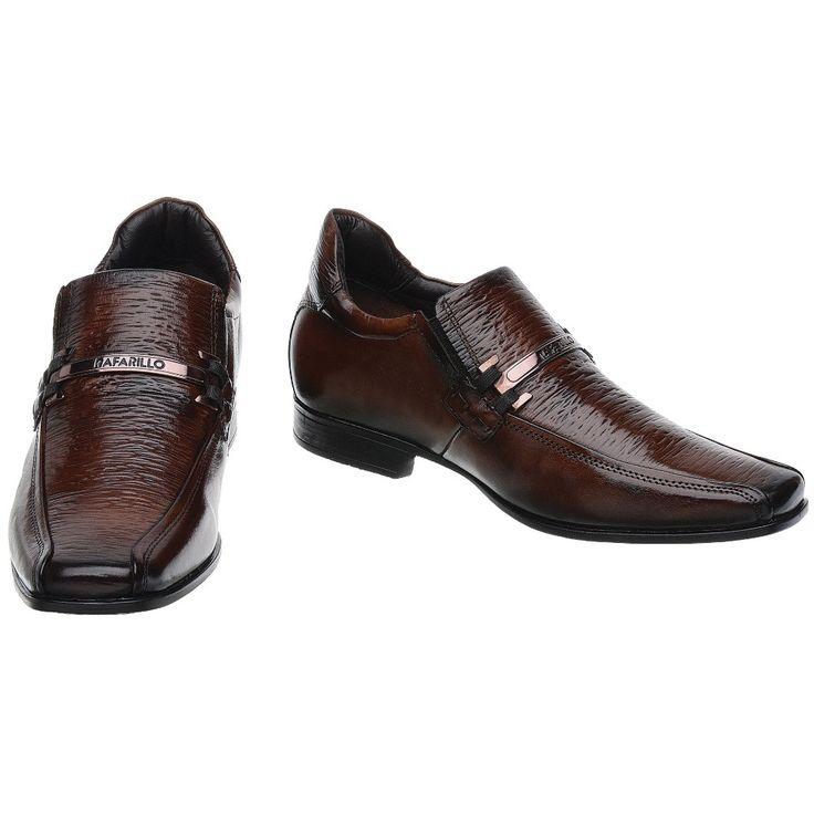 Sapato Rafarillo Linha Alth Você + Alto 7cm 3227 Mogno - FKV Calçados