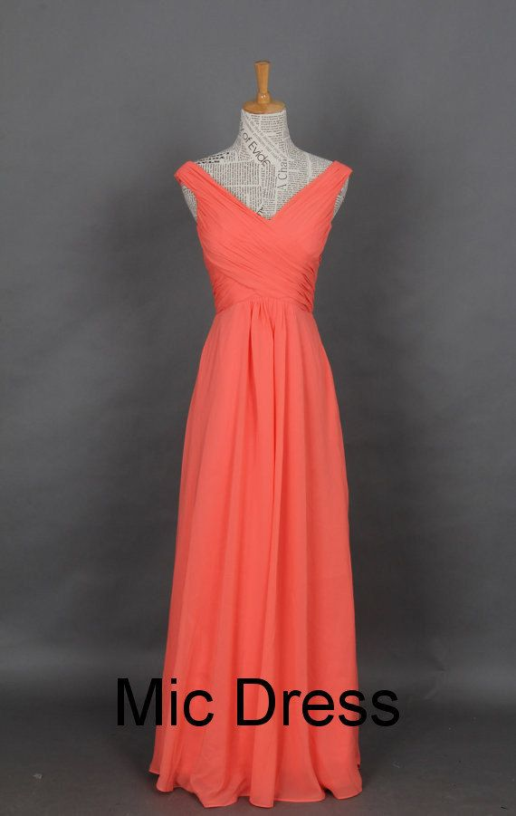 Vneck sleeveless floorlength pleated chiffon lace up by MicDress, $99.00