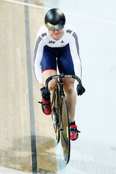 Victoria Williamson Photos - Victoria Williamson of the Great Britain Cycling Team competes in the Womens 500m Time Trial Final during day 2 of the UCI Track Cycling World Championships held at National Velodrome on February 19, 2015 in Paris, France. - UCI Track Cycling World Championships: Day 2