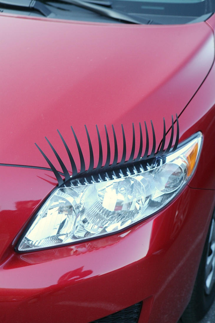 Car eyelashes !! Reallly !? i <3 em.: Cars Lashes, Sports Cars, Cars Eyelashes, Little Red, Eye Makeup, Stuff, Vw Bugs, Cars Accessories, Awesome Cars