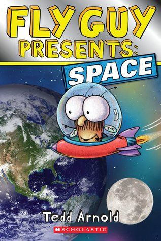 """Recommended for grades K-2. """"Fly Guy Presents: Space"""" is a fun, colorful nonfiction companion book to the popular series."""" Click the cover for more of this GoodReads review."""""""