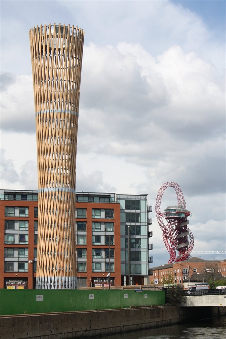 Strand East Tower, London, 2012 by ARC-ML #architecture #wood #olympics