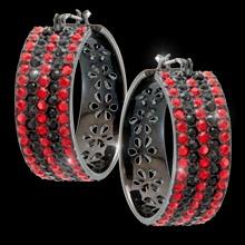 Rouge hoop earrings.  Lead and nickel free, sterling silver posts. Only $76.95